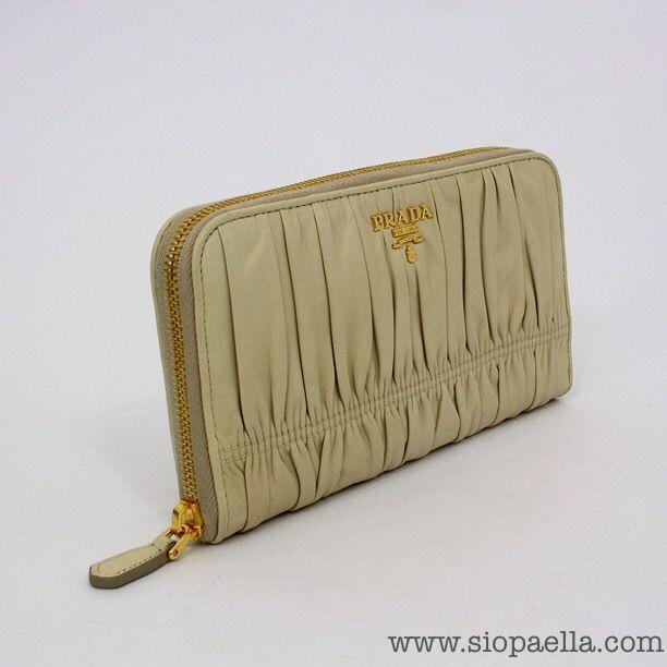 Prada Cream Gaufre' Nappa Leather Wallet
