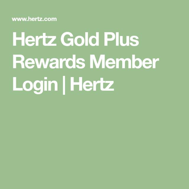 Hertz Gold Plus Rewards Member Login Hertz In 2020 Hertz