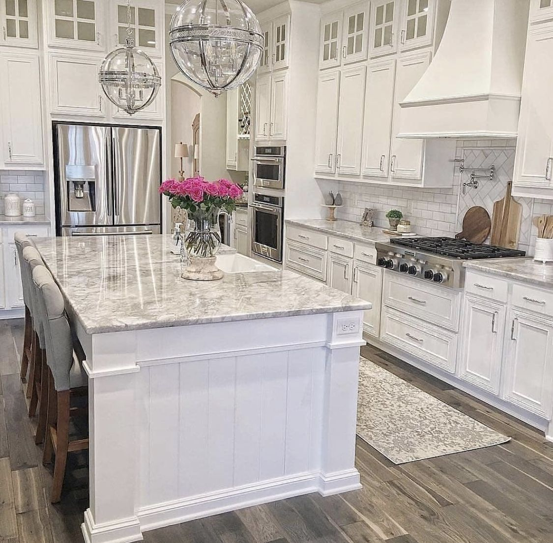 Pin by Shano on Heart of the home   Latest kitchen designs, White ...