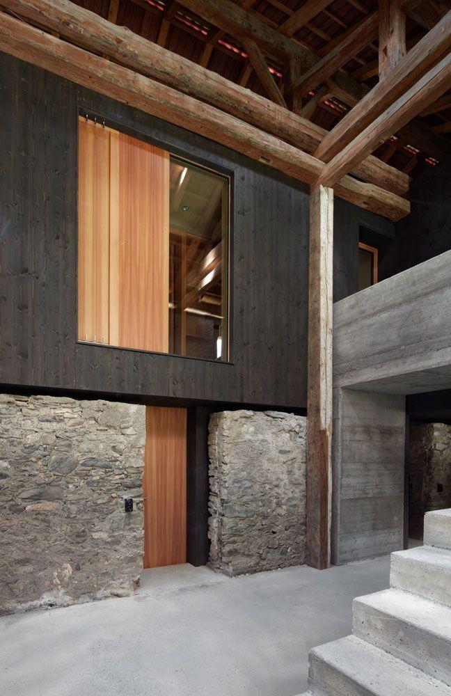 gasser derungs umbau stall zu wohnhaus im stall. Black Bedroom Furniture Sets. Home Design Ideas