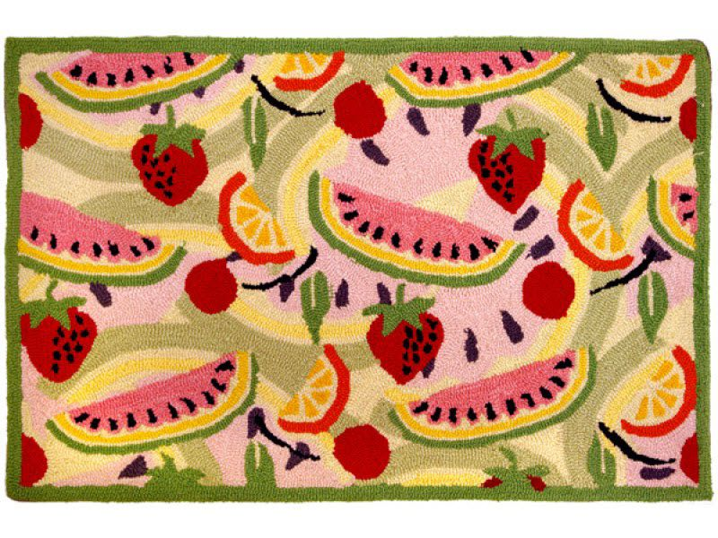 Kitchen Rug Design In Watermelon, Strawberries, And Other Bright Fruits //  RugSmart Interiors
