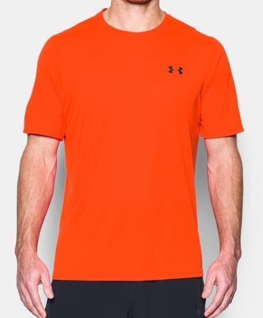 3fe0ec7e Details about Under Armour Mens HeatGear UA Threadborne Siro Orange ...