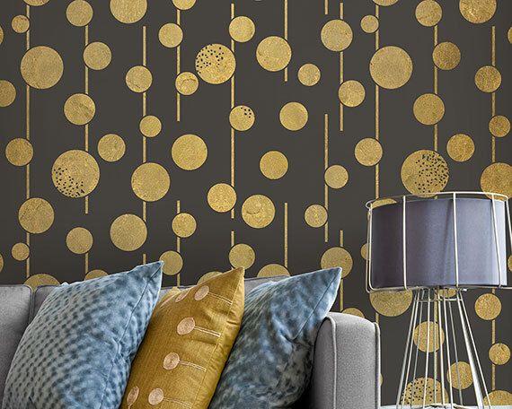 Large Geometric Circles Wall Stencils Boho Chic And Glam