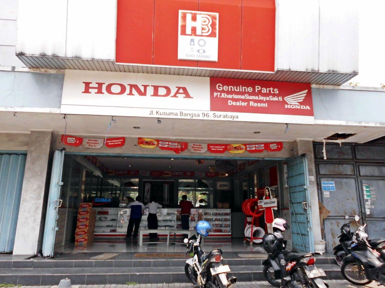Tampak Depan Jaringan Suma Parts Shop Kusuma Bangsa Surabaya Honda Spareparts Sumapartsshop Surabaya Honda Surabaya Motor Honda