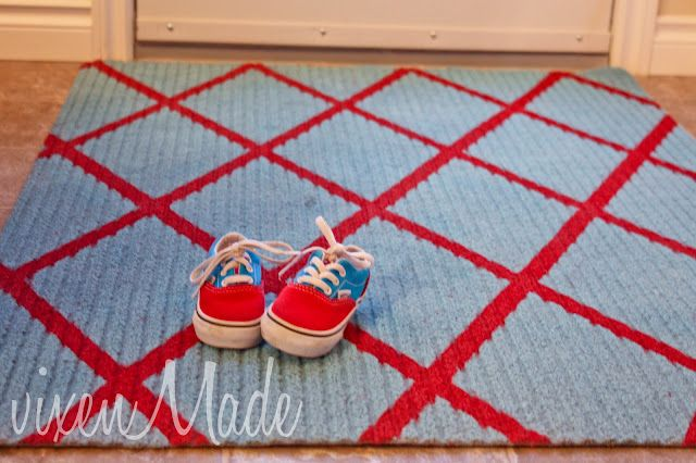 painted utility rug