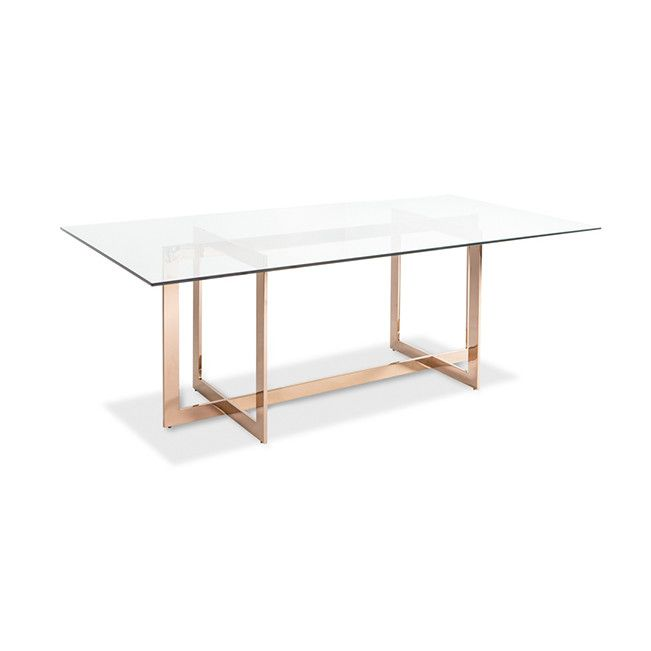 Lievo Cooper Dining Table With Glass Top Reviews Wayfair