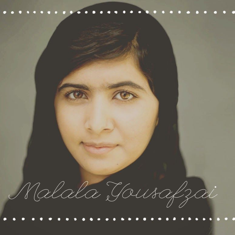 An amazing, inspiring young woman -- Malala.  What an example she is of courage, hope and change.