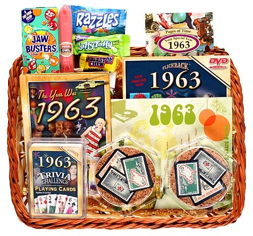 I'm SO making this for my parents!!!!  50th Wedding Anniversary Basket