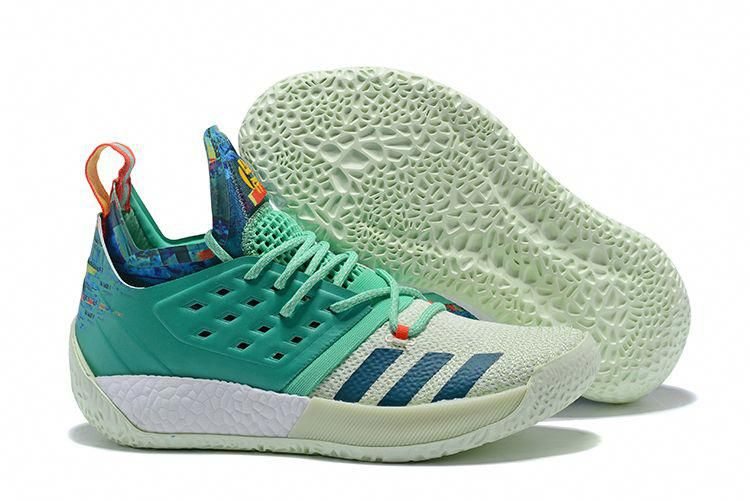 """611ee62ae2a2 2018 adidas Harden Vol. 2 """"Vision"""" All-Star White Green Multi-Color   adidasbasketballshoes"""