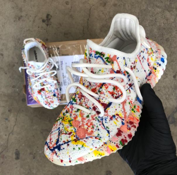 4eba3a8294ec Custom Paint Splattered Adidas Yeezy's in 2019 | Shoessss | Yeezy ...