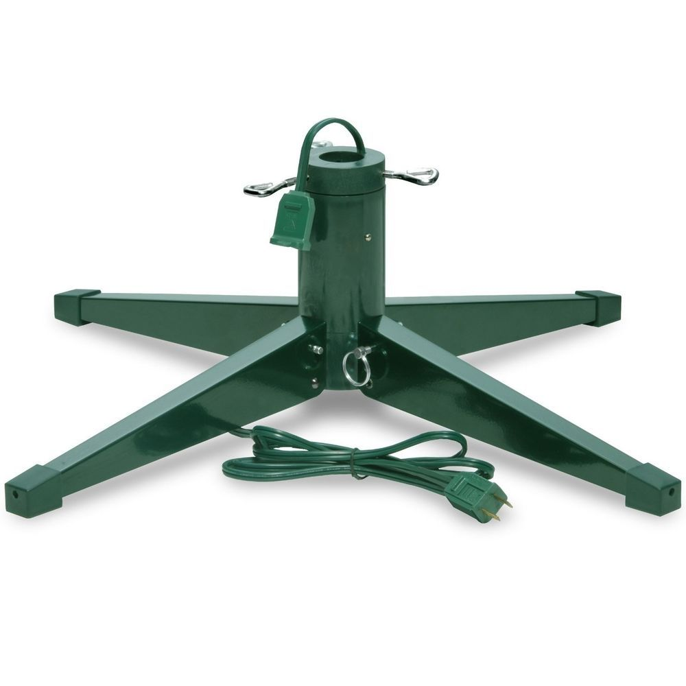Christmas Tree Stand Revolving Rotating Base Electric Heavy Duty Metal Folding Nationaltreeco