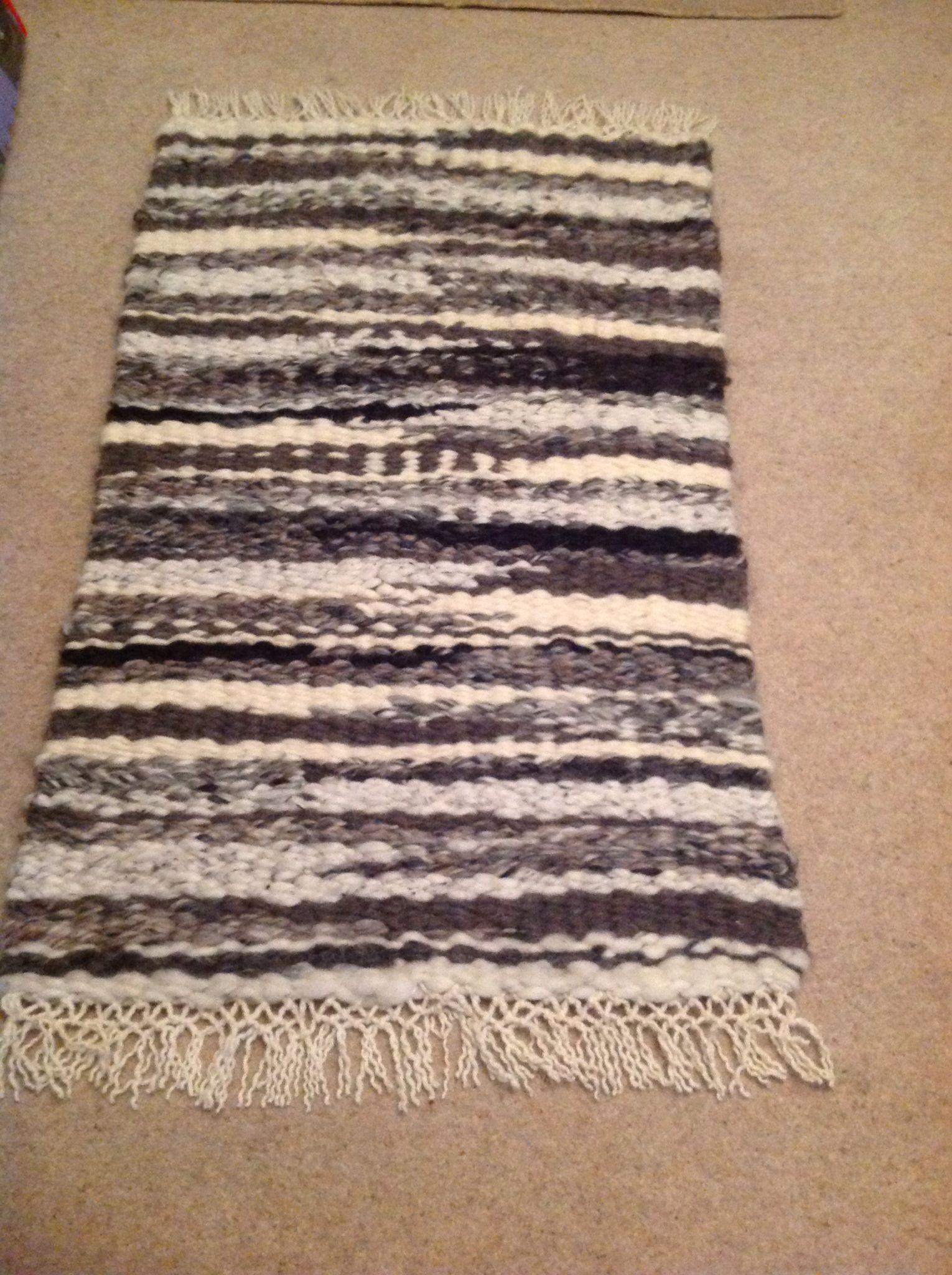 Finished Jacob Sheep Rug Woven On The Peg Loom Weaving