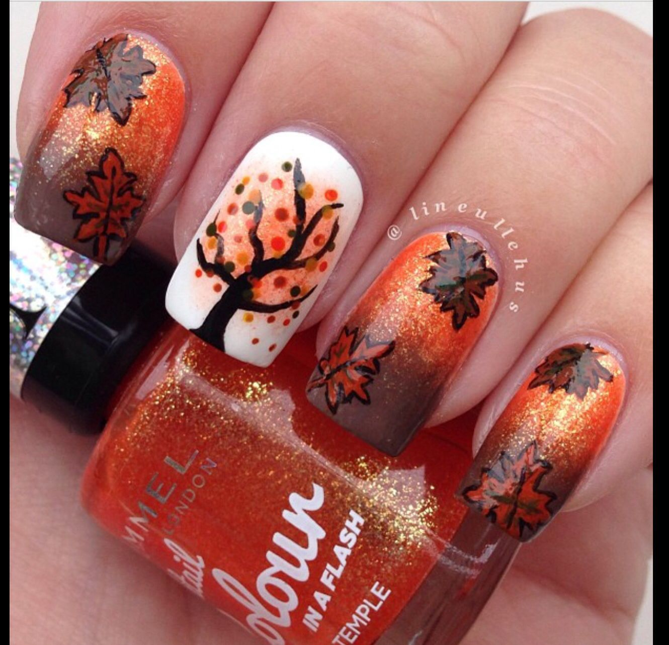 60 Fall Inspired Nail Designs Leaves Owls Pumpkins More Nail Designs Fall Nail Art Fall Nail Designs