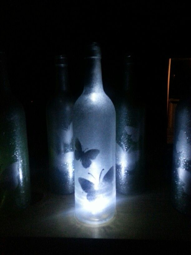 Silver wine bottle