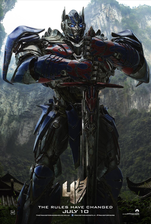 Transformers 4 optimus prime poster