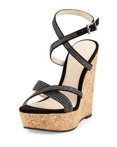 Chinese Laundry Brown Wedges Buscar Con Google Rhinestone Sandals Wedge Sandals Black Wedge Shoes