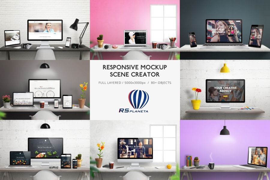Responsive Mockup Scene Creator Is Intended For The Promotion Of