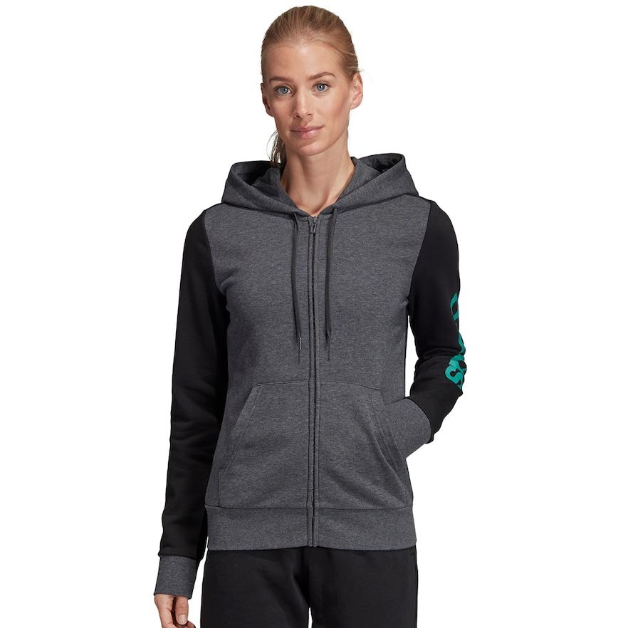Women's adidas Essential Linear Full Zip Hoodie | Adidas