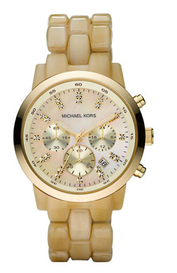 7821992c7 Women's watch by Michael Kors, modeled after the men's large-faced watches.