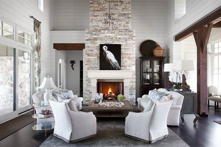 This Gray Living Room Features Classic Design And Modern Design