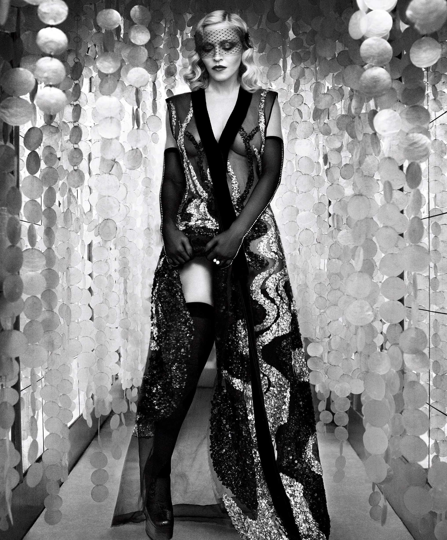 Madonna fashion show san luis obispo - Madonna Wearing Marc Jacobs Fall 16 By Luigi And Iango For Harper S Bazaar February 2017
