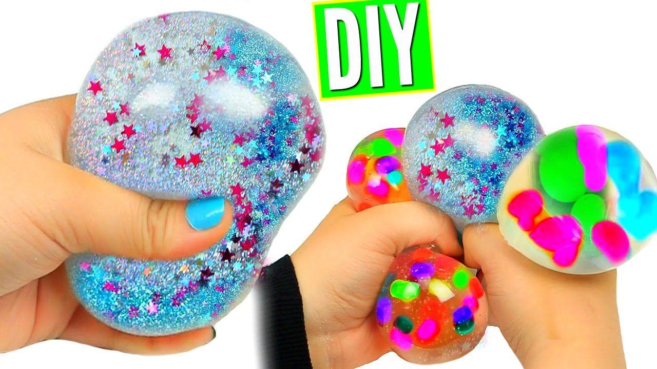 Diy Liquid Squishy Balls Orbeez Glitter Liquid Stress Balls