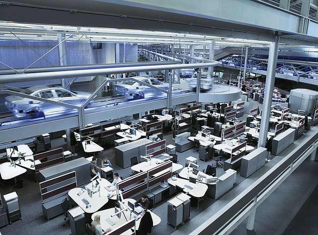 BMW assembly line offices. Industrial Factories Pinterest