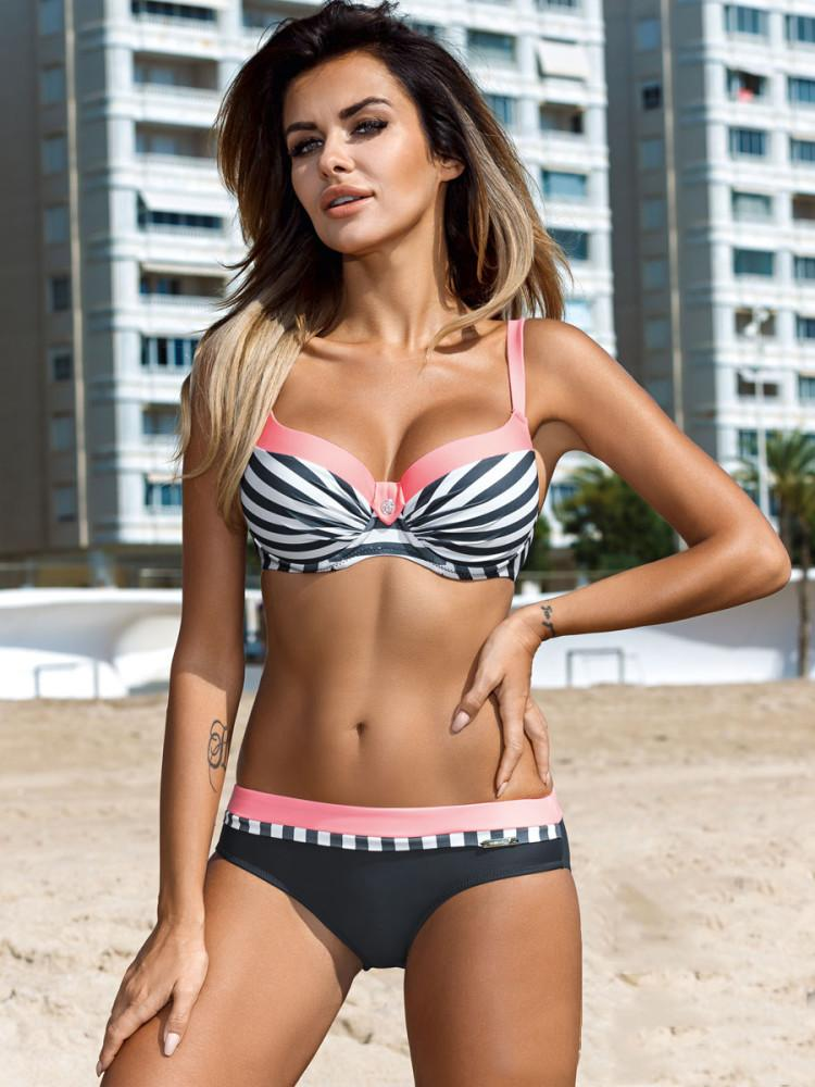 02f2ba6a2c2 Ariel Sarah Bikini Set Halter Swimsuit Bathing Suit Women Push Up Bikini  Plus Size Swimwear XXL Sexy Maillot De Bain