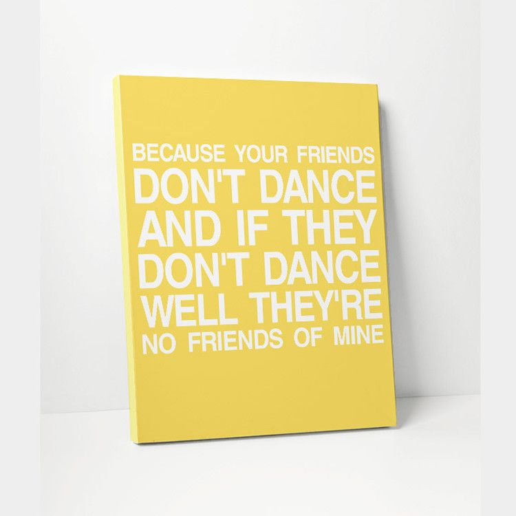Canvas Print: Safety Dance | Safety, Dancing and Canvases