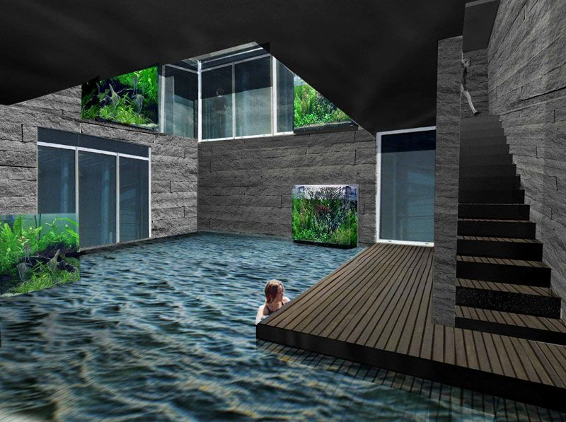 Indoor pool i 39 d have rounded edges though this looks for How much is an indoor swimming pool