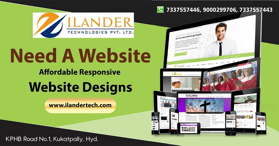 Ilander Technologies Provides Best Graphic Designing Training Company In Hyderabad We Offer Fun Website Design Responsive Website Design Seo Digital Marketing