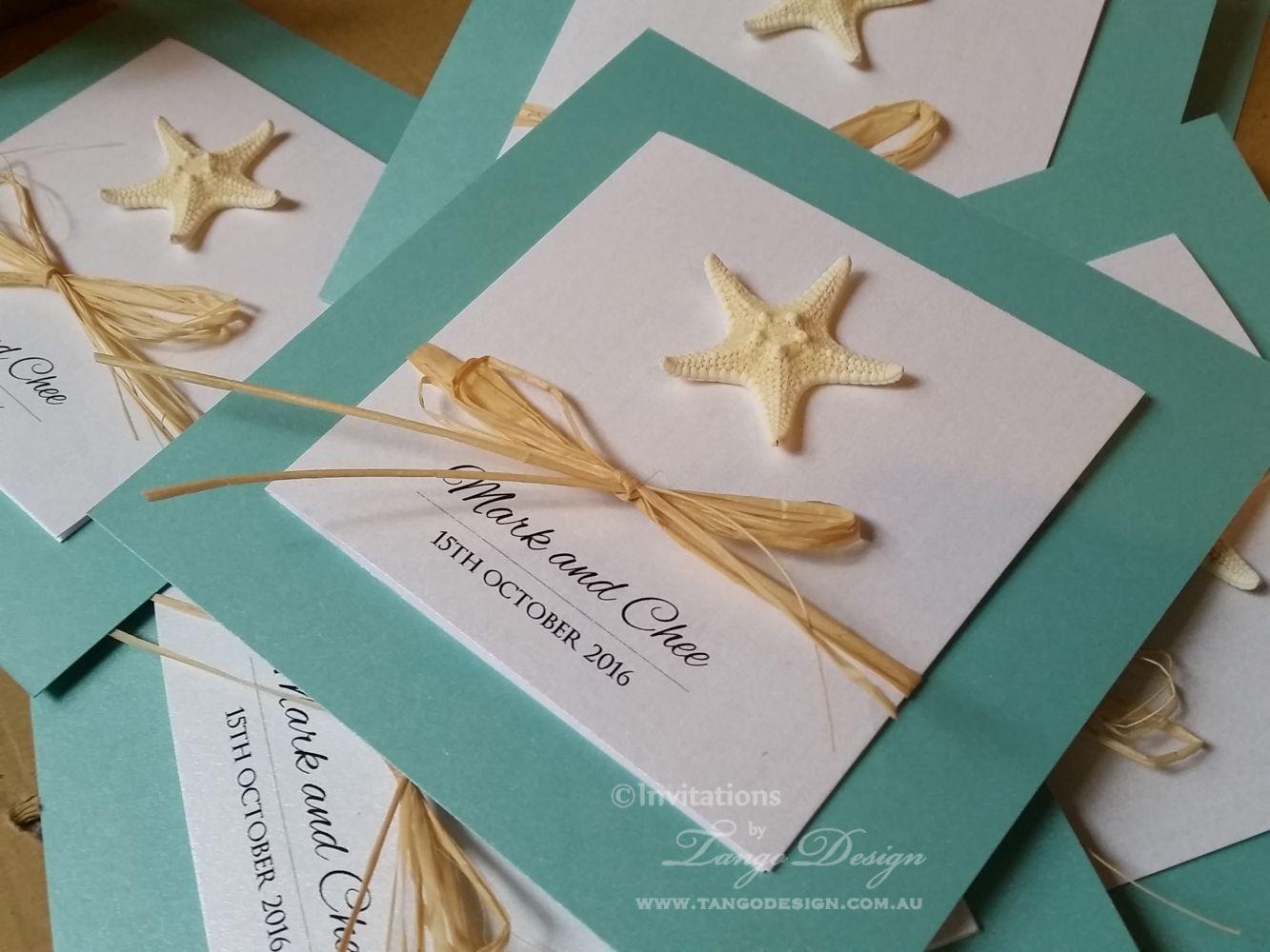 Handmade wedding invitation see and party invites | Tiffany blue ...