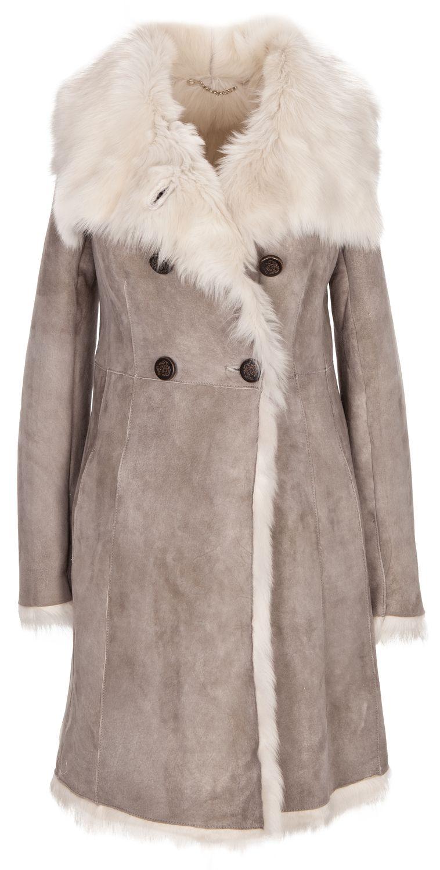 Luxury Lifestyle Piece: Exklusiver Lammfellmantel in Grau