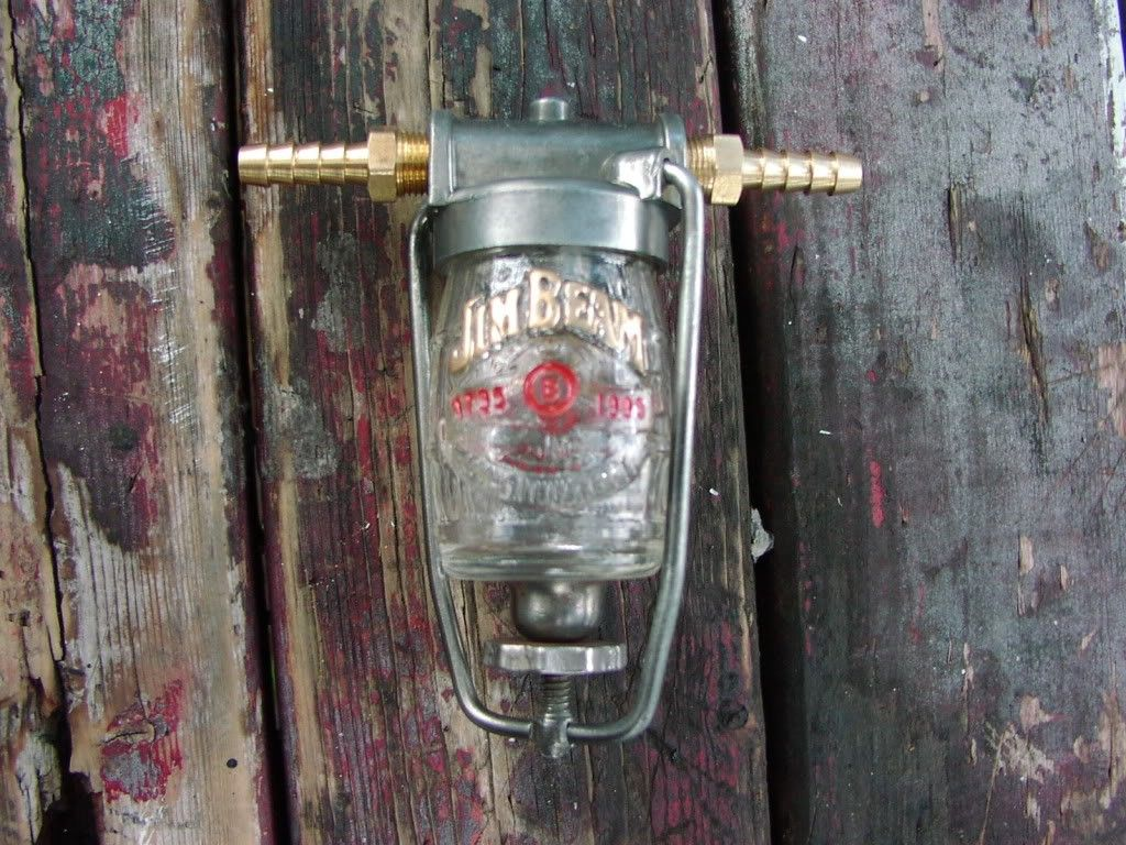 Fuel Filter By Brass Homemade Fashioned From A Motorcycle Holder And Shot Glass Intended For Engine