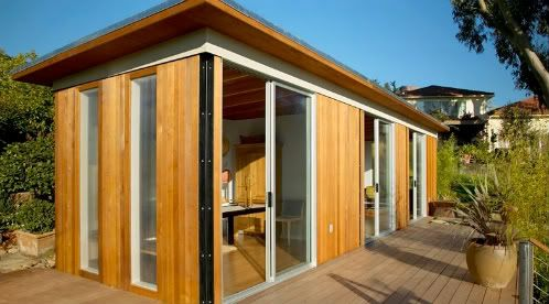 Caba as peque as caba as prefabricadas modernas modern for Cabanas de madera pequenas