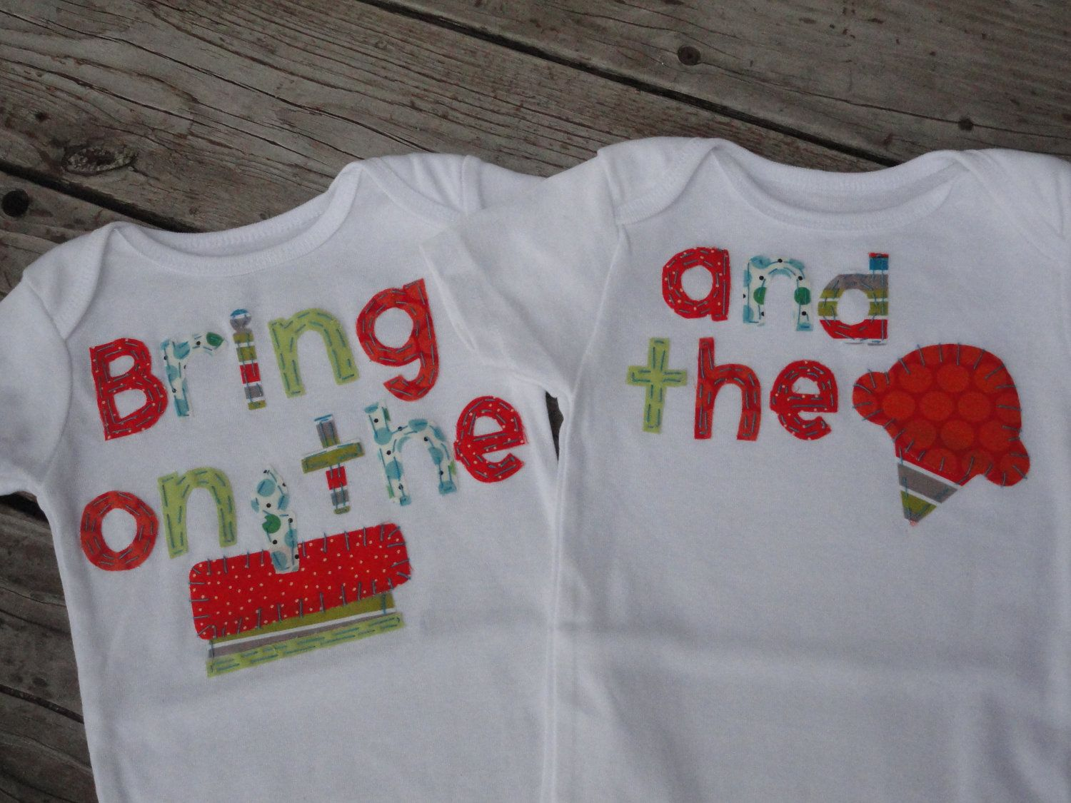 Twin Boys Birthday Onesies Bring On The Cake And Icecream First Brothers Baby Shower Gift 3995 Via Etsy