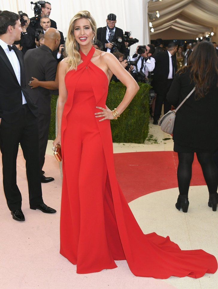 Pin for Later: See Every Stunning Met Gala Arrival Ivanka Trump Wearing Ivanka Trump collection.