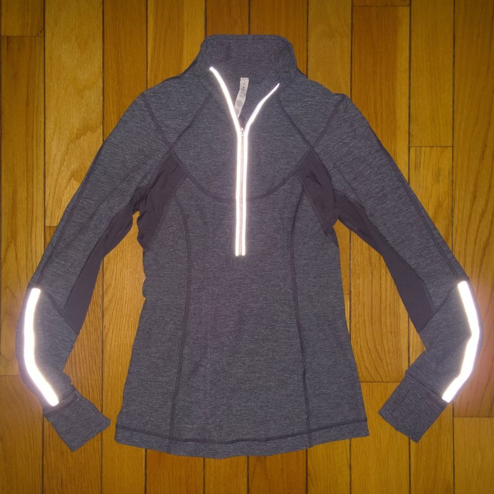 3231f360 LULULEMON Women Run Dash Pullover 1/2 Zip Long Sleeve Thumb Holes Top 6  Gray #fashion #clothing #shoes #accessories #womensclothing #activewear  (ebay link)