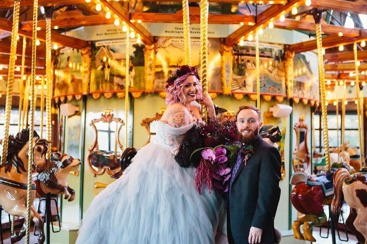 Haunted Mansion themed DIY Wedding // Photo by The Ramsdens