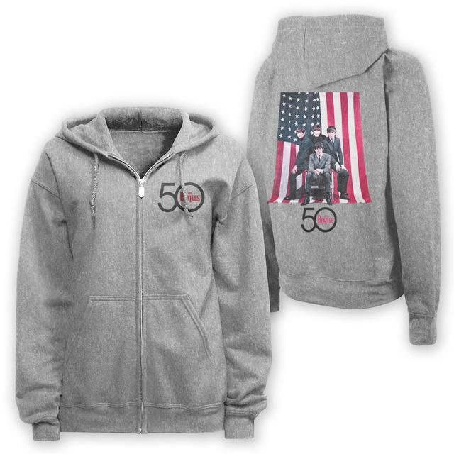 Check out The Beatles American Flag Zip Hoodie on @Merchbar.