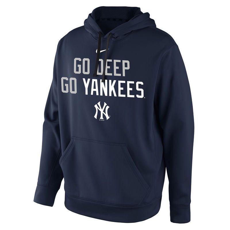 New York Yankees Nike Go Deep Playoff Hunt Pullover Hoodie - Navy ... f2b42336700