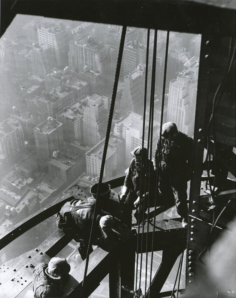 Workers on Empire State Building, 1931. By Lewis W. Hine