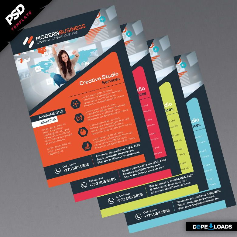Modern business flyers colors corporate identity pinterest business flyers business flyer for Modern flyers template