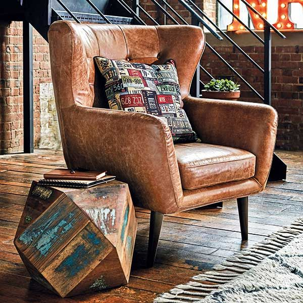 Tobin Outback Leather Chair Tan Available Online At Barker