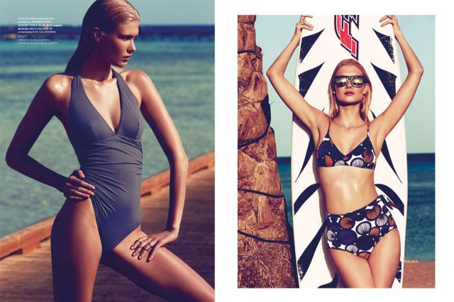 Gioia celebrates summer with this tropical spread starring Yulia Terentieva.