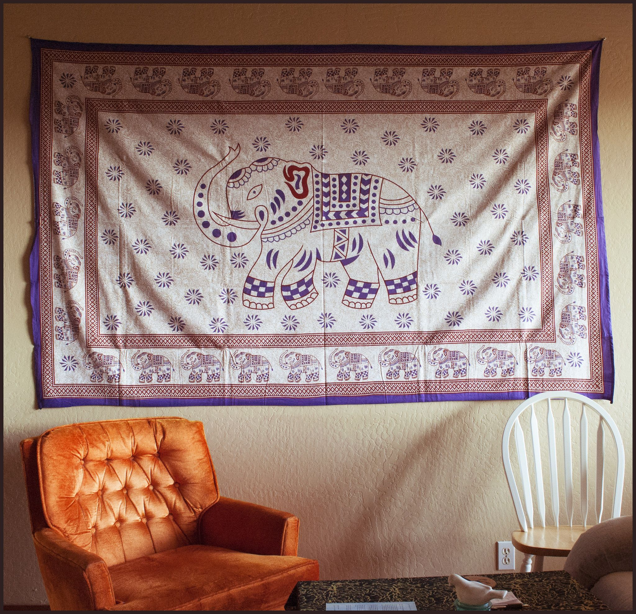 Happy Elephant Tapestry