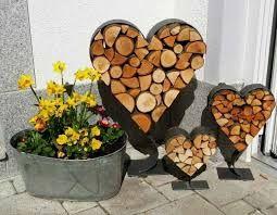 Bildergebnis f r metallherz f r holz garten garden for Holz dekoration garten