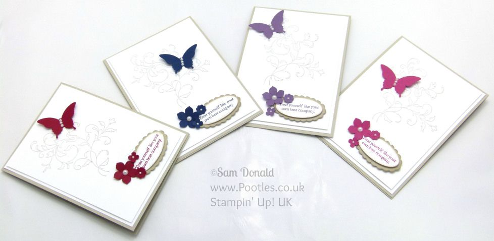 Stampin' Up! UK Independent Demonstrator Pootles. Creative Regal Elements