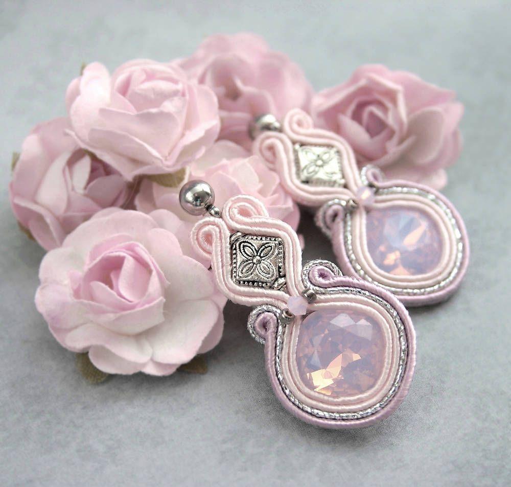 Náušnice - Ružové šujtášové náušnice - 6259728_