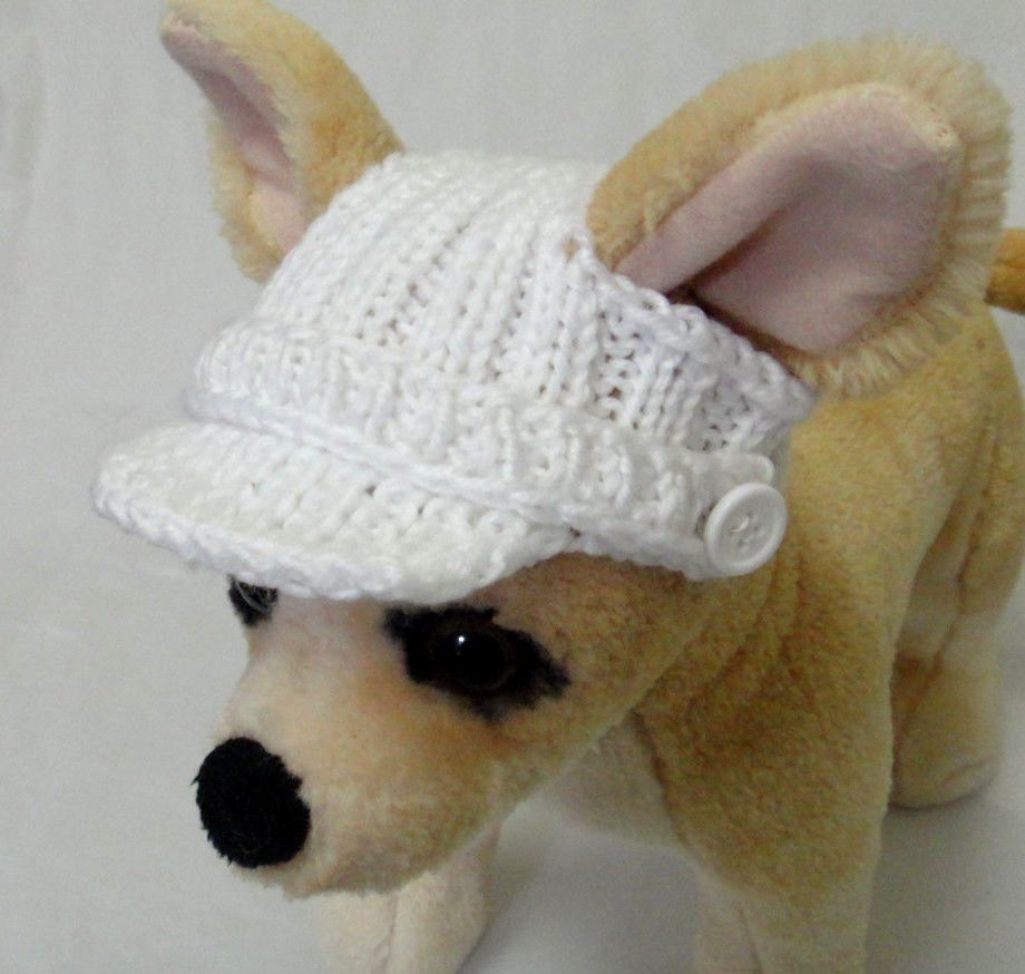 Pet Clothes Spring/Summer Outfit Crochet Hand-Knit Visor Hat for ...